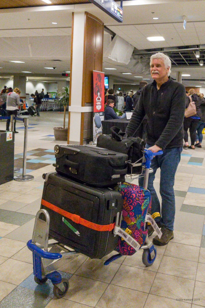 Steven Kennard arriving home from his spring 2019 teaching tour of Western Canada